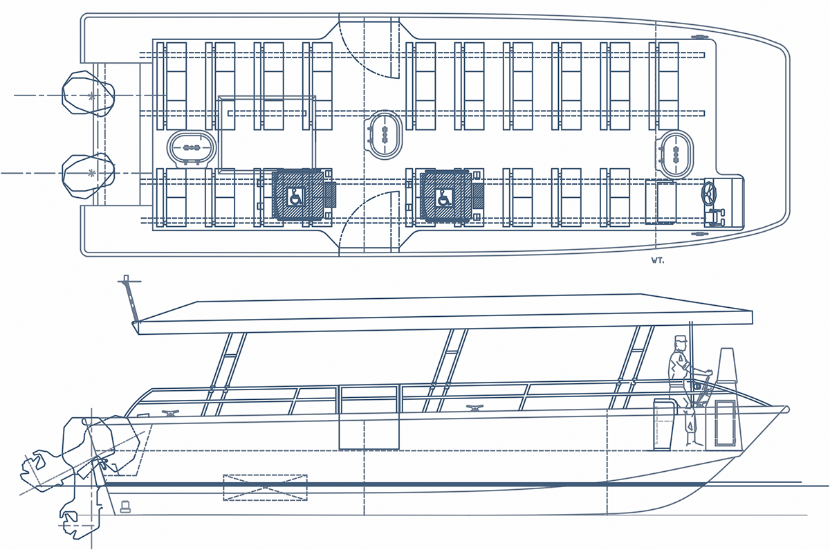 Odyssey tour boat by SeaArk Marine